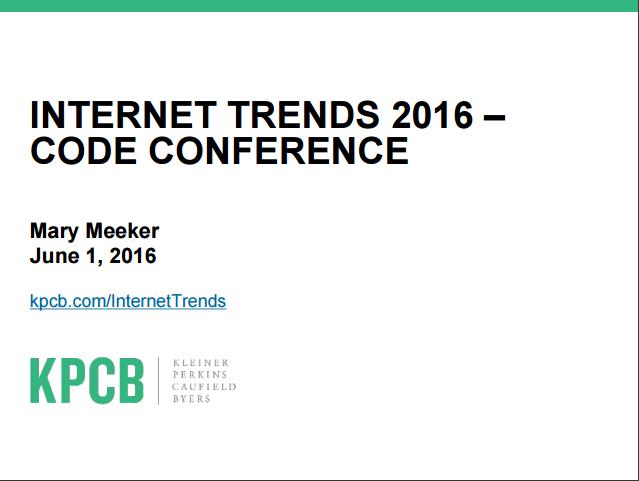 Internet Trends - Meeker's Report
